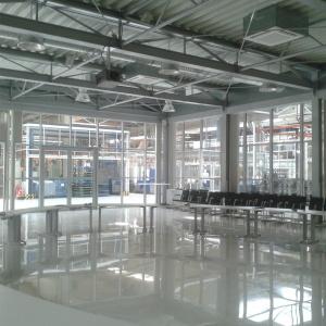 Biuro - konstrukcja stalowa, zabudowana ślusarką aluminiowo-szklaną.