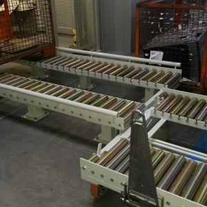 Wózki do systemu transportu rolkowego dla firmy SITECH.