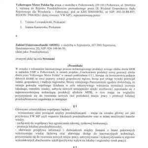 Najnowsze porozumienie o współpracy z firmą VWMP Polkowice.
